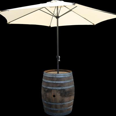 Wine Barrel and Umbrella