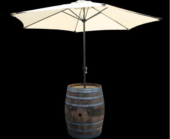 wine barrel and umbrella hire