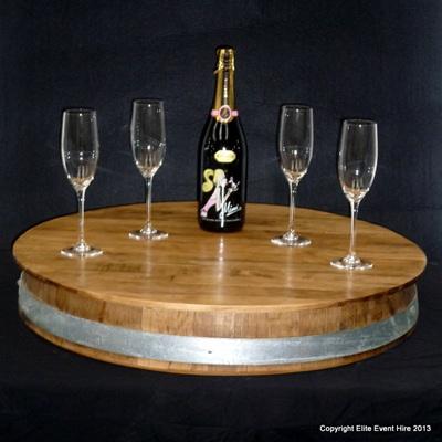 Wine Barrel Serving Stand