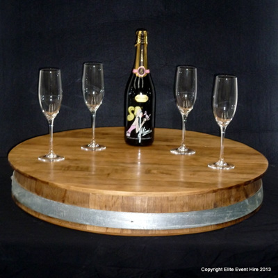 Wine Barrel Serving Stand