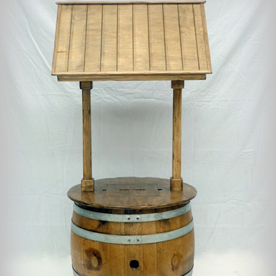 Wine Barrel Wishing Well