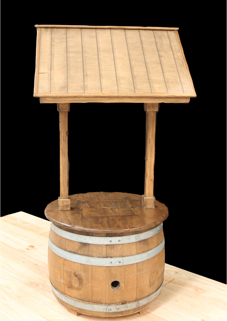 wine barrel wishing well