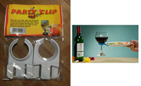 Wine Glass Plate Clips Twin Pack