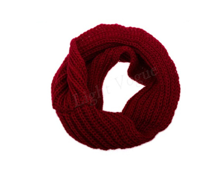 Wine Red O-Ring Scarf/Snood