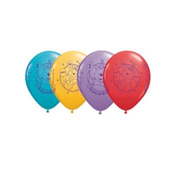 Winnie the pooh 1st birthday latex balloon