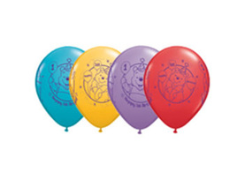 Winnie the pooh 1st birthday latex balloon