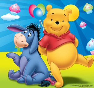 Winnie The Pooh 40 piece party pack.