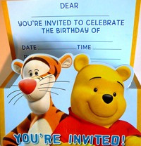 Winnie the Pooh - Invites pack of 8