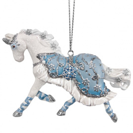 Winter Ballet Painted Pony - hanging decoration