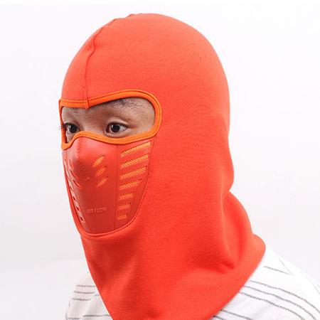 Winter Face Warmer Hooded Mask *ORANGE*