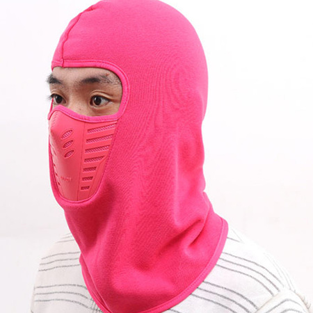 Winter Face Warmer Hooded Mask *Pink*