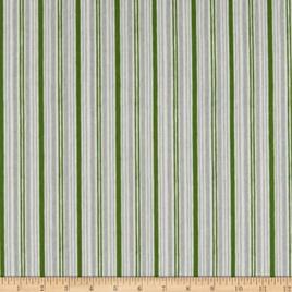 Winter Gnomes Winter Time  Stripe Green 6757791