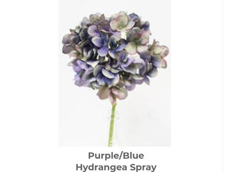Winter Hydrangea 48cm Purple/Blue