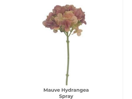Winter Hydrangea Spray 48cm Pink/Mauve