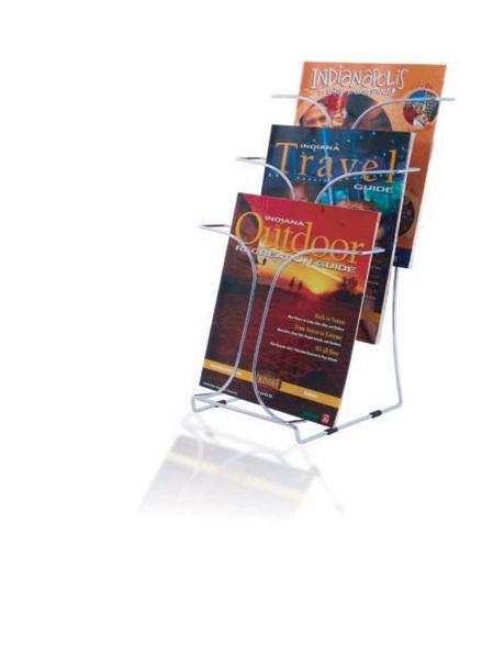 Wire Brochure Magazine Display, Desktop 3 tier, A4 78345