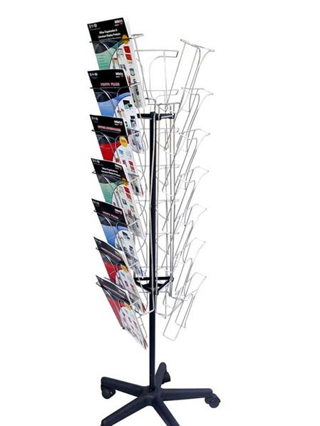 Wire Magazine Floor Stand, 21 x  A4 78845