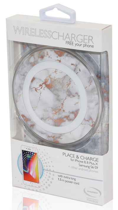 Wireless Charger Pad - White Marble