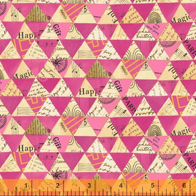 Wish - Collaged Triangles Hot Pink