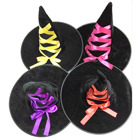 Witches Hat with coloured Bows