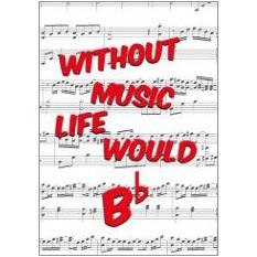 Without Music Fridge Magnet