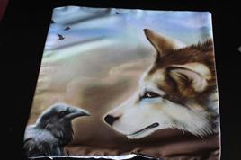 Wolf & Crow Cushion Cover