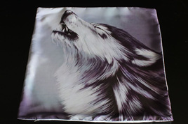 Wolf Howling Cushion Cover