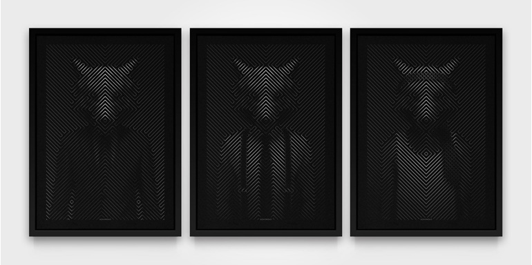 Wolf of Wall St - Triptych