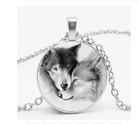 Wolf Protection Necklace - Silver Chain