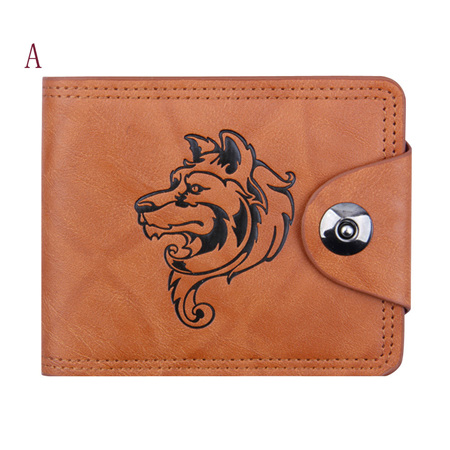 WOLF PU LEATHER MENS WALLET