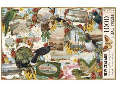 Wolfkamp & Stone New Zealand Postcards, Flora & Fauna 1000 Piece Puzzle