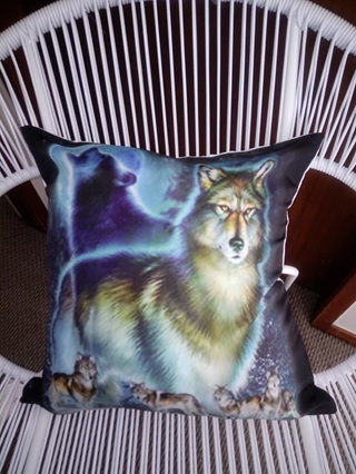 Wolfpack & Moon Cushion Cover