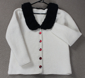 Womans Cream Jacket - Hand Crocheted
