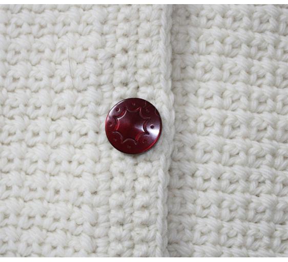 Womans Cream Jacket - Hand Crocheted
