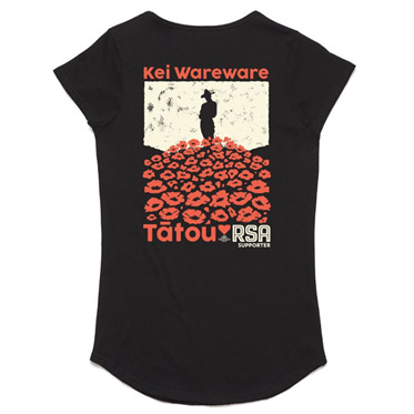 Women's Black Poppy Tee