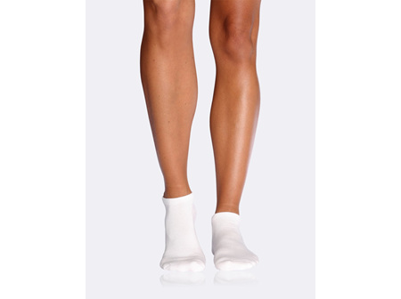 Women's Cushioned Sport Ankle Socks - White 3-9