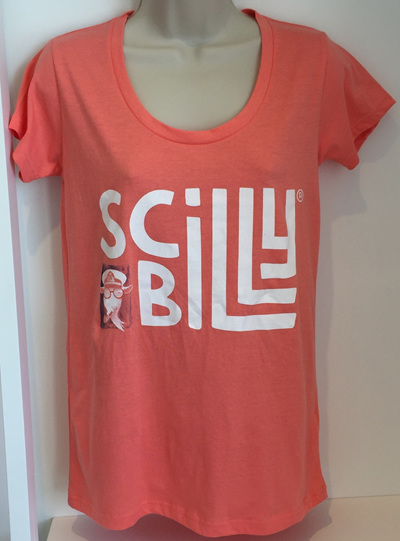 Women's Scilly Billy Logo Tee - Coral