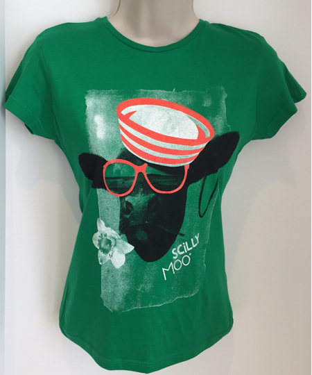 Women's Scilly Moo T-Shirt - Green