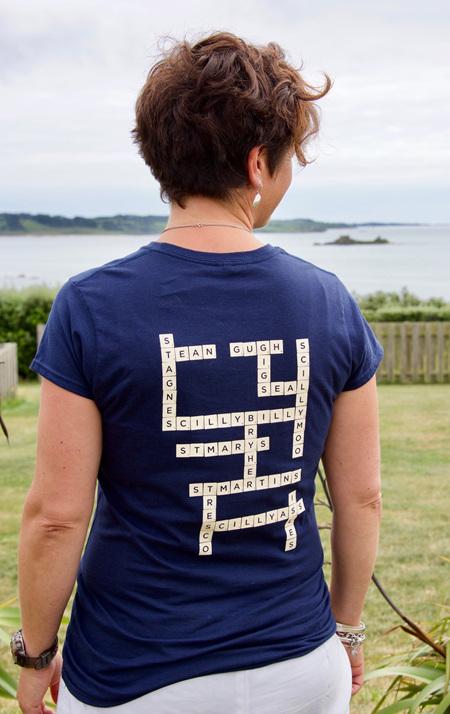 Women's Scrabble Tee - Navy