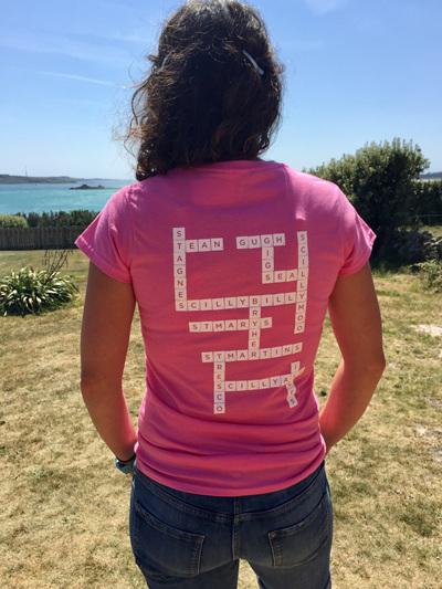 Women's Scrabble Tee - Pink