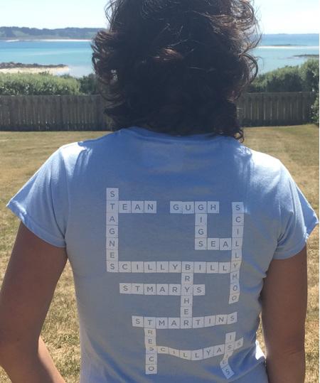 Women's Scrabble Tee - Sky Blue