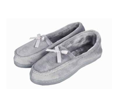 Womens Slippers Plush Lg (11-12)