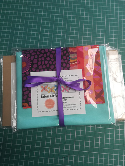 Wonder Flutters Kaffe Fassett Fabric + Ruler