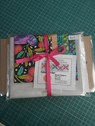 Wonder Flutters Tula Pink Fabric + Ruler Kit