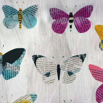 Wonder - Newspaper Butterflies on Sand