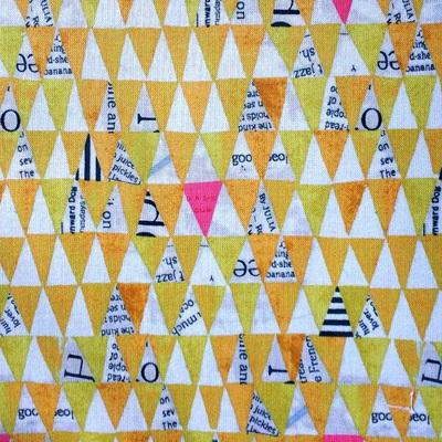 Wonder - Stacked Triangles - Mustard