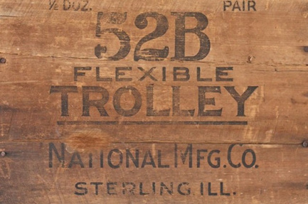 Wood Crate 'Trolley' Royce Decoupage Paper