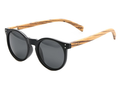 Wooden Arm Sunglasses - Polarised