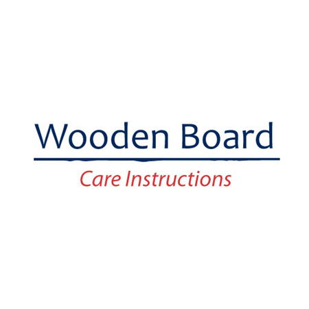 Wooden Board - Care Instructions