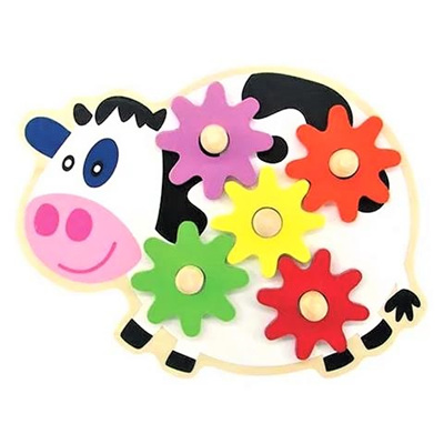 Wooden Cow Gear Game