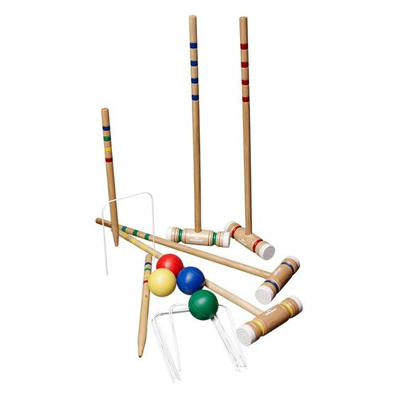 wooden croquet set hire